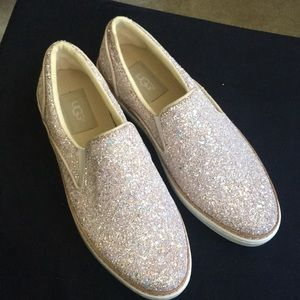 Ugg multi glitter slip on shoes size 7